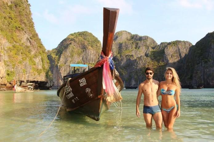 Além de passar por pontos paradisíacos, casal também compartilha dicas sobre os locais (Foto: Arquivo Pessoal)