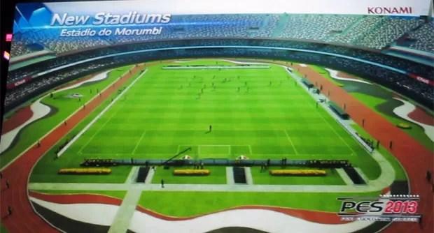Estádio do Morumbi foi anunciado pela Konami como um dos palcos para confrontos de futebol virtual no game 'Pro Evolution Soccer 2013'. O game chega ao Brasil no dia 5 de outubro (Foto: Gustavo Petró/G1)
