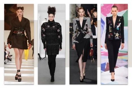 Maison Margiela, Elie Saab, Chanel e Schiaparelli, alta-costura, inverno 2017 (Foto: Getty Images)