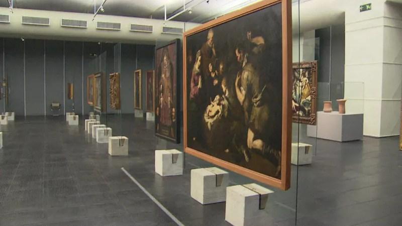 Acervo do MASP é restaurado dentro do próprio museu — Foto: Reprodução/TV Globo