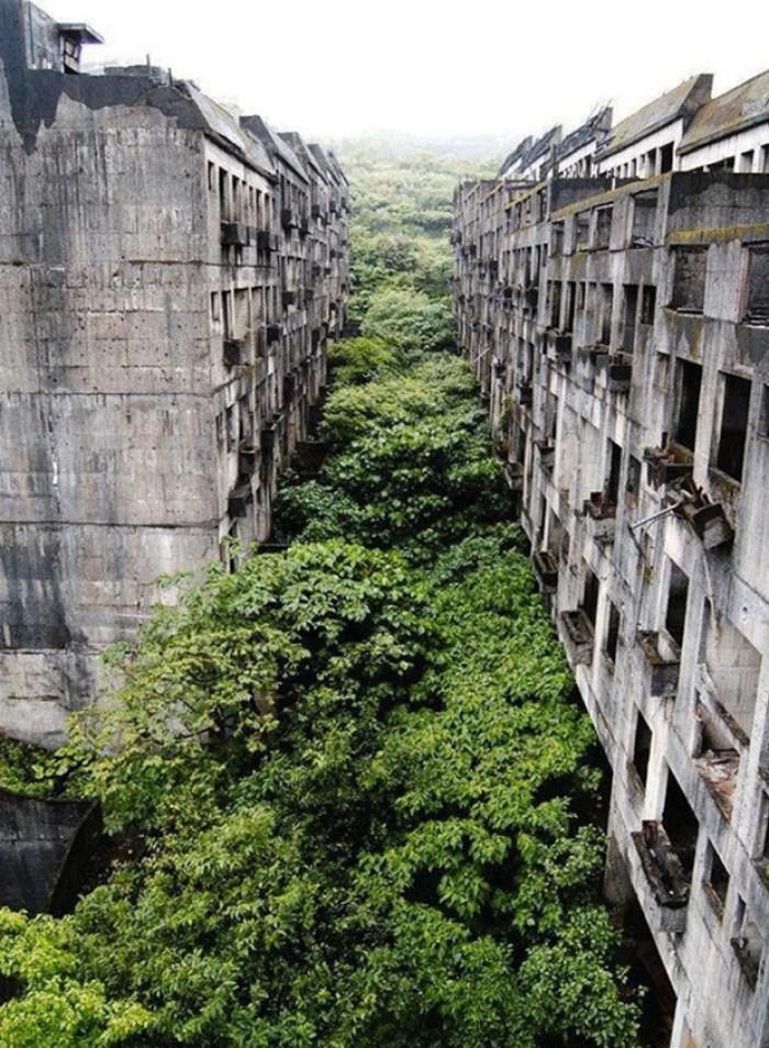 Flats abandonados, em Keelung, Taiwan