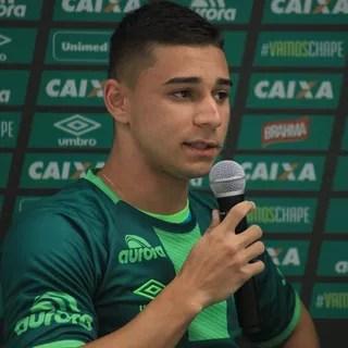 João pedro Chapecoense (Foto: Sirli Freitas/Chapecoense )