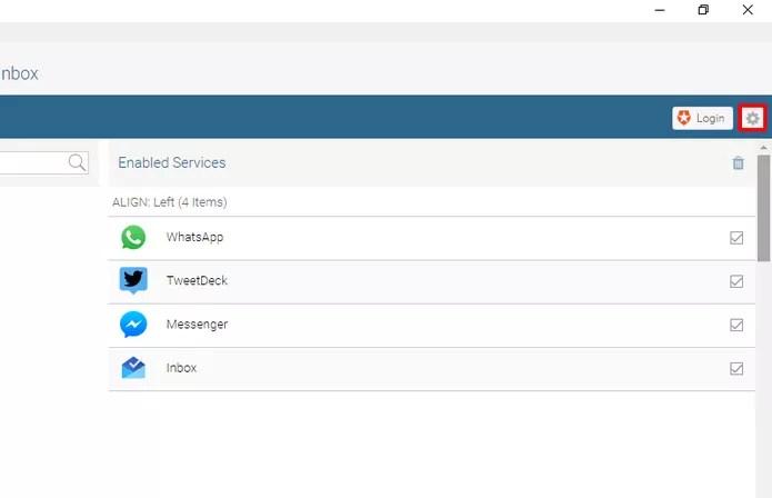 Clique nas configurações para configurar uma senha-mestra (Foto: Reprodução/Elson de Souza)