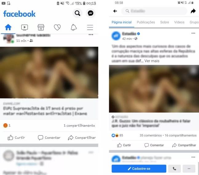 Suposto bug no Facebook mostra foto com sexo explícito em miniatura de links  — Foto: Reprodução/Twitter