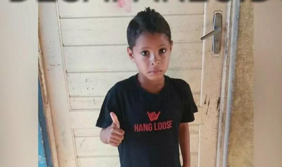 Menino Guilherme, de 7 anos, desapareceu em João Pessoa (Foto: Valdenice Marinho/Arquivo Pessoal)