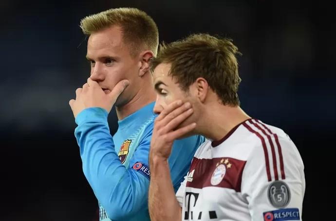 Mario Gotze Ter Stegen Bayern de Munique Barcelona (Foto: Getty Images)