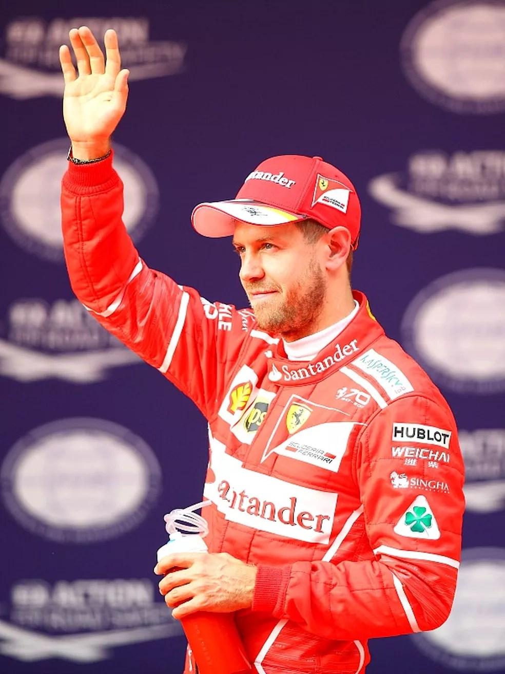 Sebastian Vettel no GP da China (Foto: Getty Images)