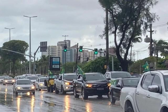 Carreata pela principais ruas e avenidas em Aracaju — Foto: Fabiana Gonçalves/ Arquivo pessoal