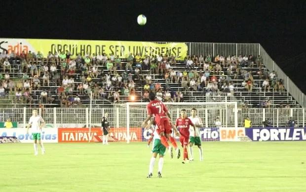 Luverdense e América-RN pela Série B (Foto: Assessoria/Luverdense Esporte Clube)