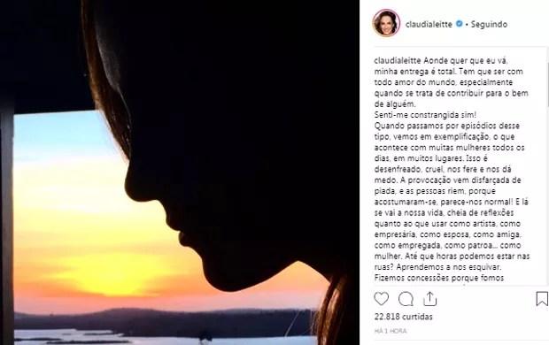 Publicação de Claudia Leitte (Foto: Reprodução/Instagram)