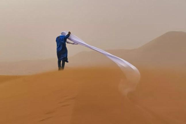 Tempestade de areia — Foto: Tom Overall / TNC Photo Contest 2021