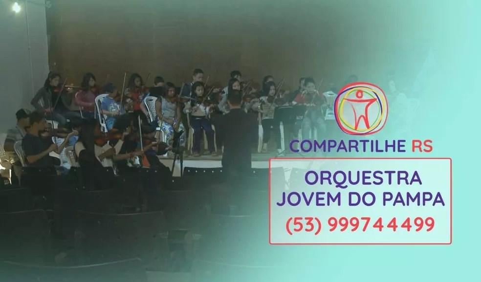 Orquestra Jovem do Pampa, de Bagé — Foto: Arte/RBS TV
