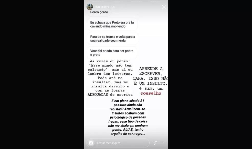 Menino sofreu injúria racial nas redes sociais — Foto: reprodução/Instagram