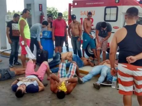 Mais de 20 candidatos do concurso da PM do Ceará passaram mal e foram atendidos em Beberibe (Foto: Álvaro Mendonça/Arquivo pessoal)