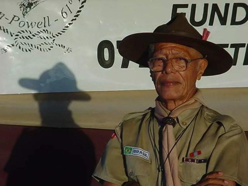 Djalma Ribeiro, era o mais antigo escoteiro do Brasil. — Foto: Arquivo Pessoal