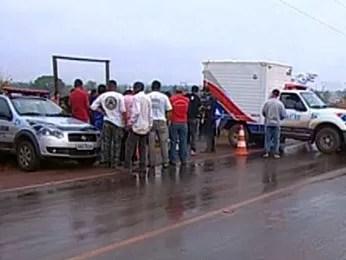 Polícia investiga a morte do candidato (Foto: Reprodução / TVCA)