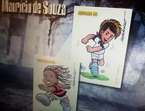 Figurinhas de Vagner Lovinho e Neymarzinho  (Foto: Cassio Barco / Globoesporte.com)