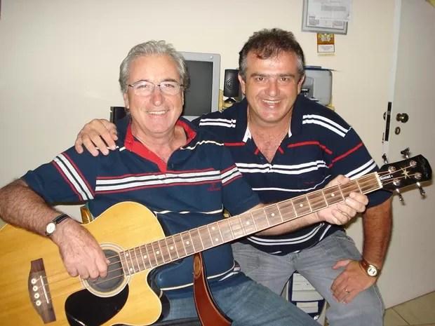 Otávio e o sobrinho Fernando Basso (Foto: Fernando Basso/Arquivo pessoal)