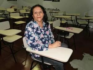 Laura do Espírito Santo é aluna do curso de inglês paras prostitutas e travestis. (Foto: Sara Antunes/ G1)