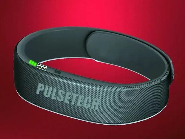 Pulseira protetora contra com aplicativa de ondas sonoras que espantariam mosquito; proposta é de uma startup de Santa Rita do Sapucaí, MG (Foto: Reprodução/Projeto Pulsetech)