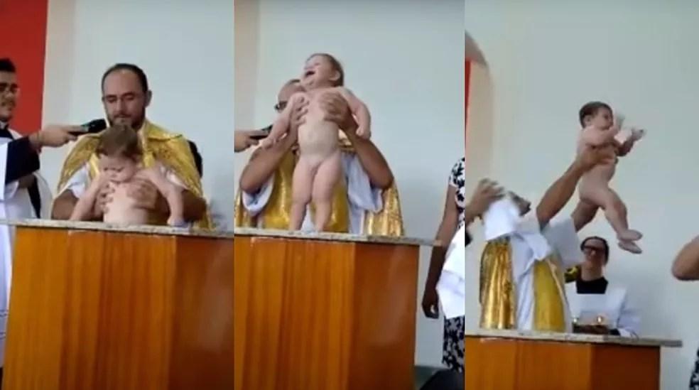 Bebê de Campo Limpo Paulista foi batizado em abril (Foto: Juliane de Oliveira/Arquivo pessoal)