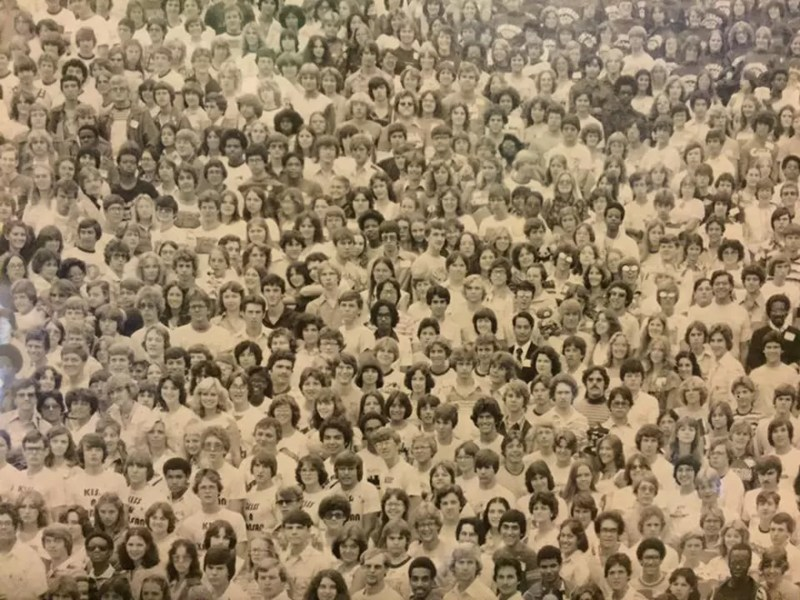 Encontre o panda na multidão (FOTO: REPRODUÇÃO/TRACY LYNN HEIGHTCHEW)