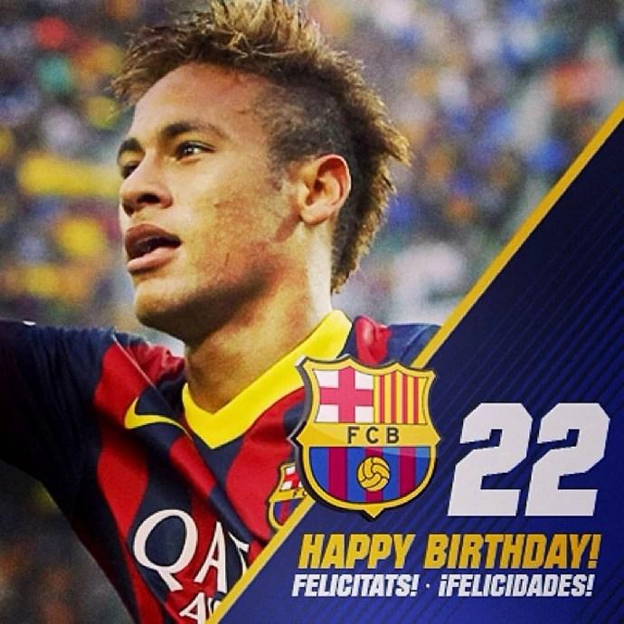Barcelona parabeniza Neymar via redes sociais (Foto: Reprodução / Instagram)