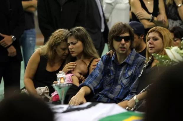 Velório de Chorão em Santos, São Paulo (Foto: Leo Franco/ Ag. News)
