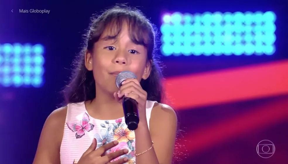 Ana Rízia virou todas as cadeiras no segundo dia de Audições às Cegas do 'The Voice Kids' — Foto: TV GLOBO