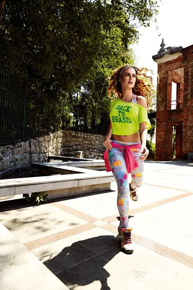Thaila Ayala posa para campanha de moda fitness (Foto: Divulgação / Caju Brasil - Marcelo Ringo)