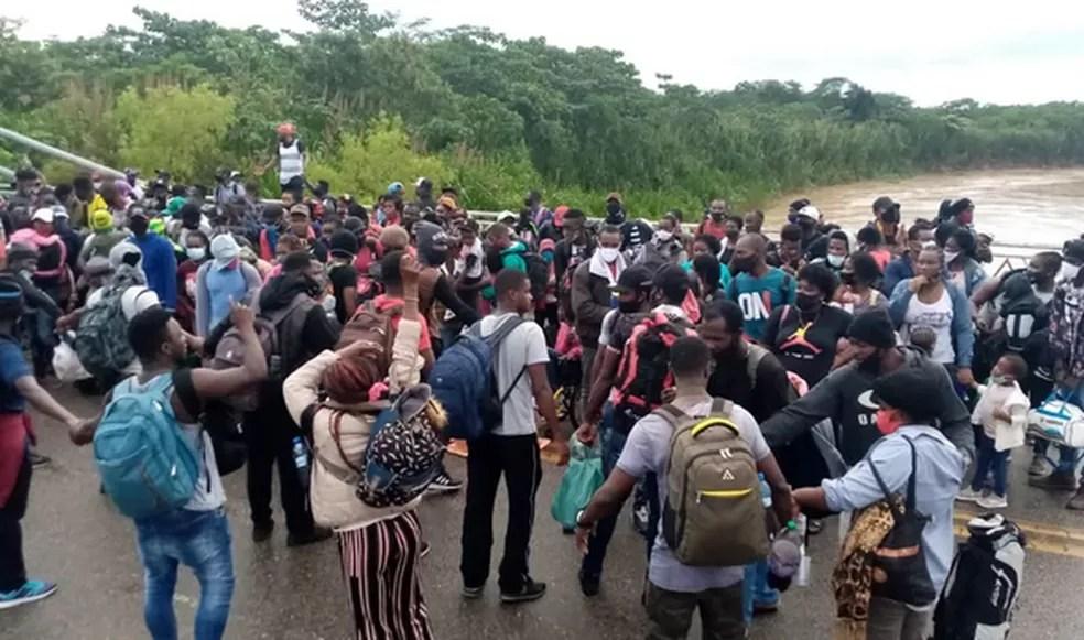 Cidade de Assis Brasil chegou a ter mais de 600 imigrantes em fevereiro deste ano — Foto: Arquivo pessoal