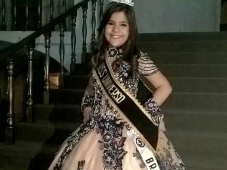 Letícia Gabrielle, Mini Miss Universo (Foto: Reprodução / Facebook)