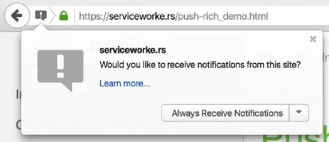 O usuário precisa autorizar o site antes que ele comece a te enviar notificações (Foto: Reprodução/Mozilla)