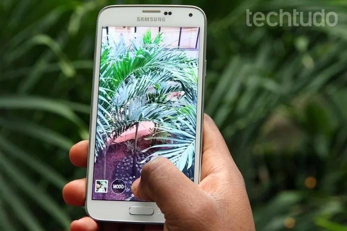 Modos de captura do Galaxy S5 estarão no Note 4 junto com quatro outras novidades (Foto: Isadora Díaz/TechTudo) (Foto: Modos de captura do Galaxy S5 estarão no Note 4 junto com quatro outras novidades (Foto: Isadora Díaz/TechTudo))