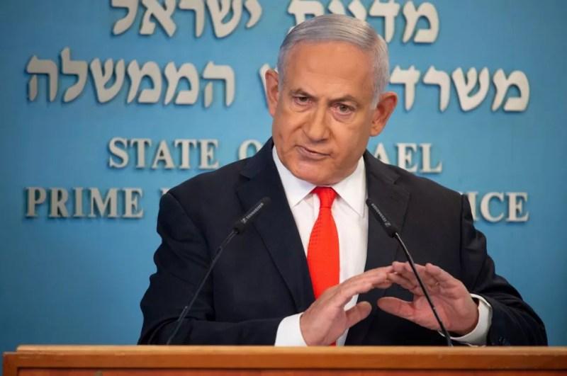 Primeiro-ministro de Israel Benjamin Netanyahu — Foto: YOAV DUDKEVITCH/POOL/AFP