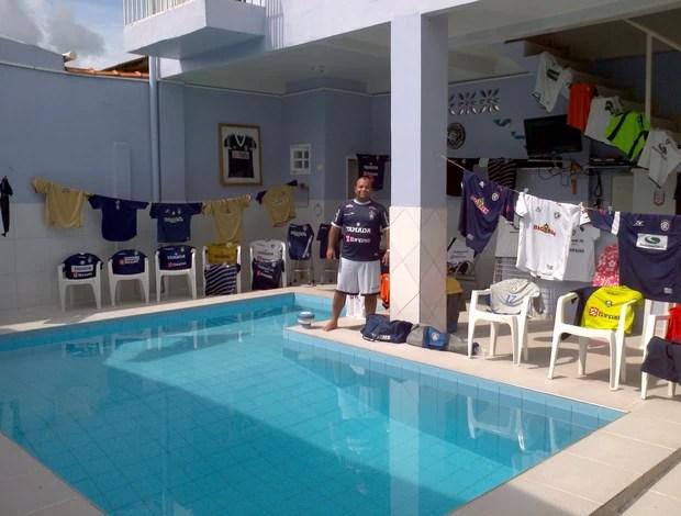 Coleção no Acre, torcedor tem 120 camisas do Remo (Foto: Arquivo Pessoal)