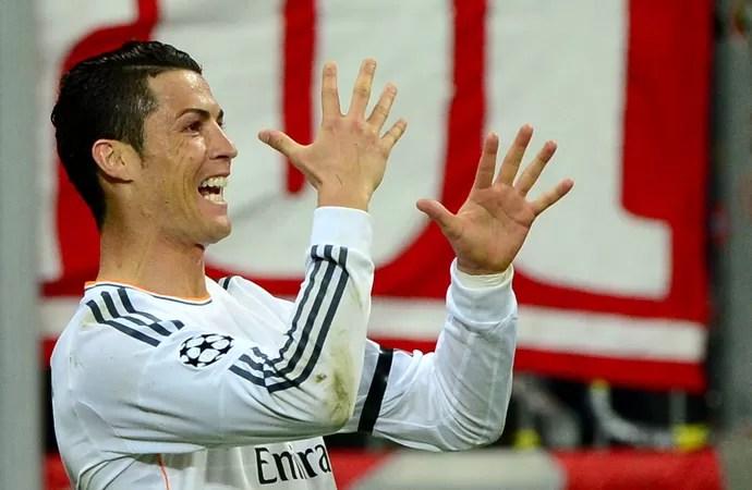Cristiano Ronaldo Bayern de Munique x Real Madrid (Foto: AFP)