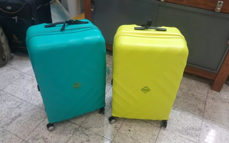 Malas estavam com 40 kg de cocaína (Foto: Divulgação/Polícia Federal)