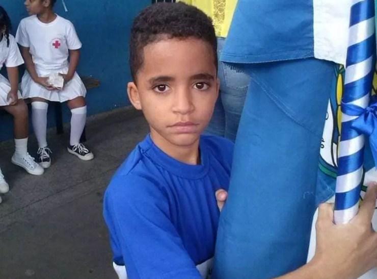 Kauan Peixoto, de 12 anos, morreu após ser baleado no pescoço e abdômen na Baixada Fluminense — Foto: Reprodução/Facebook