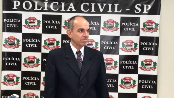 Delegado André Balura, que investiga o latrocínio (Foto: Fernando Daguano/TV TEM)