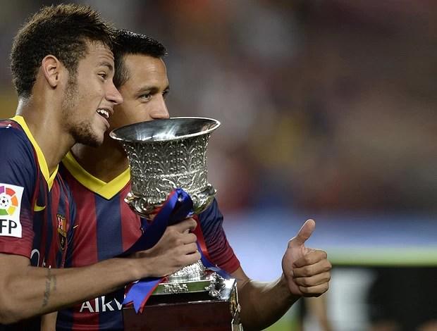 neymar taça barcelona x atletico madri (Foto: AFP)