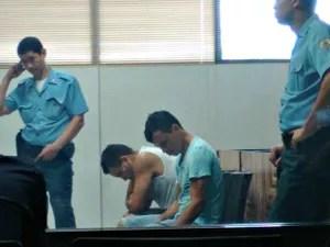 Homens são julgador por homicídio de agricultor  (Foto: Quésia Melo/G1)