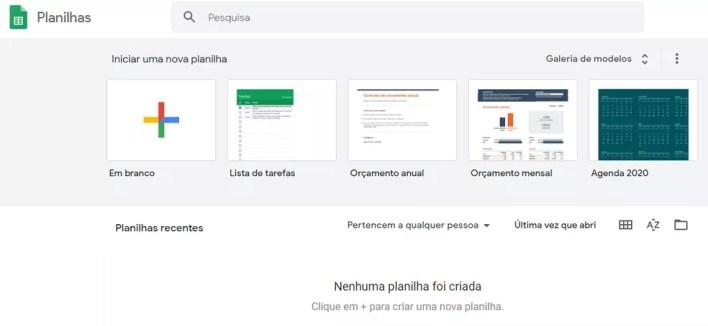 O Google Planilhas funciona de forma online e permite a colaboração de outros usuários — Foto: Reprodução/Carol Fernandes