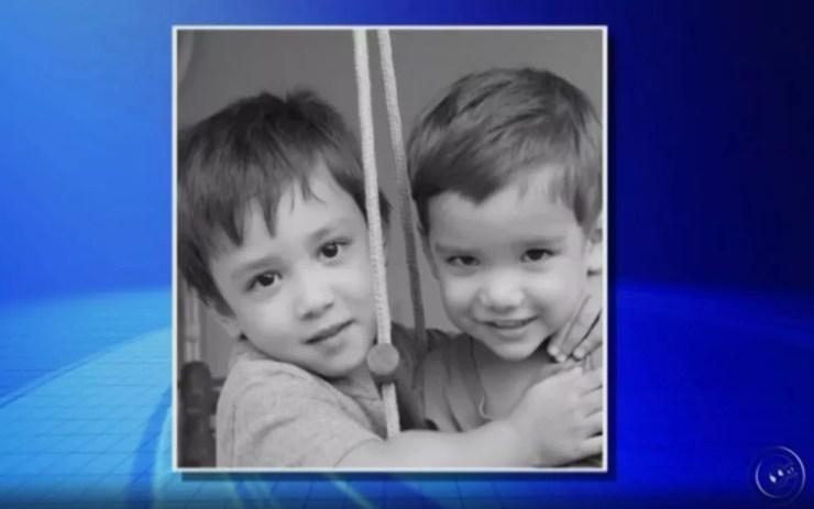 Filhos que foram mortos pelo pai em Rio Preto  (Foto: Reprodução/TV TEM)
