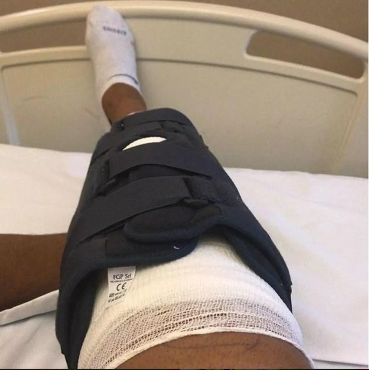 Aguirre operou há dois meses o joelho direito e está no fim da recuperação (Foto: Divulgação)