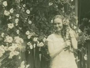 Edith Gaertner chegava a ter sete gatos de cada vez, conta professora (Foto: Arquivo Histórico/FCBlu)