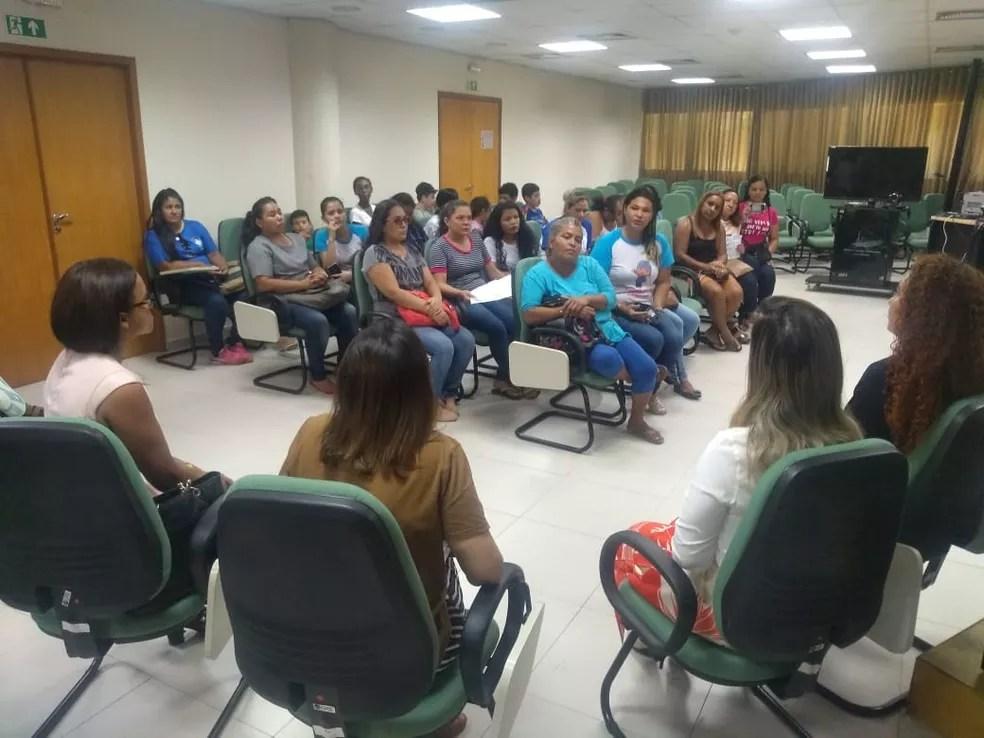 Juíza recebeu as mães ainda na manhã desta segunda-feira (4). — Foto: Divulgação.