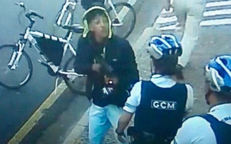 Ladrão que atirou contra os guardas em Rio Preto  (Foto: Reprodução)