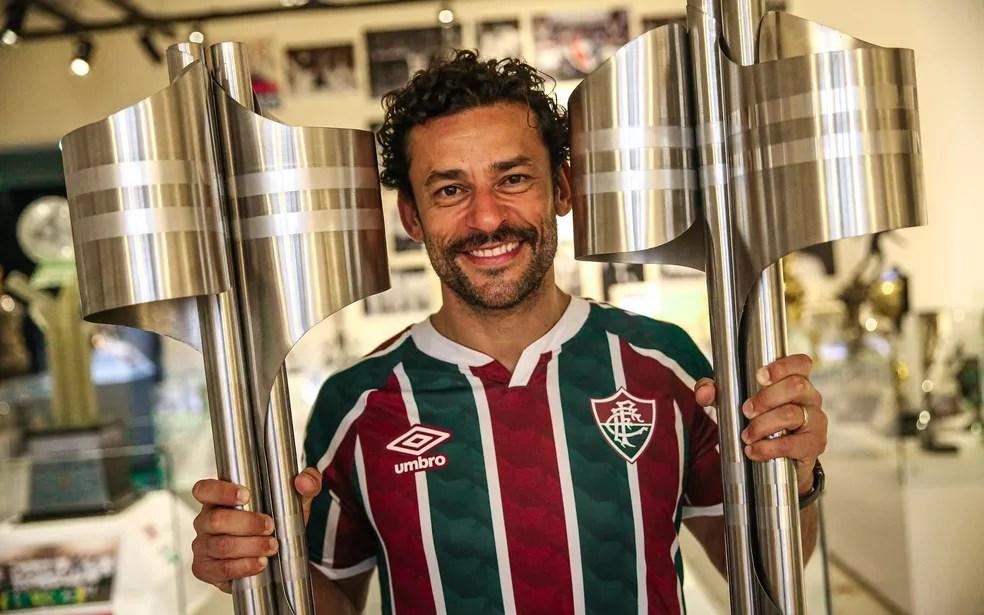 Fred tem 288 jogos, 172 gols, dois títulos brasileiros e um carioca com a camisa do Fluminense — Foto: Lucas Merçon / FFC