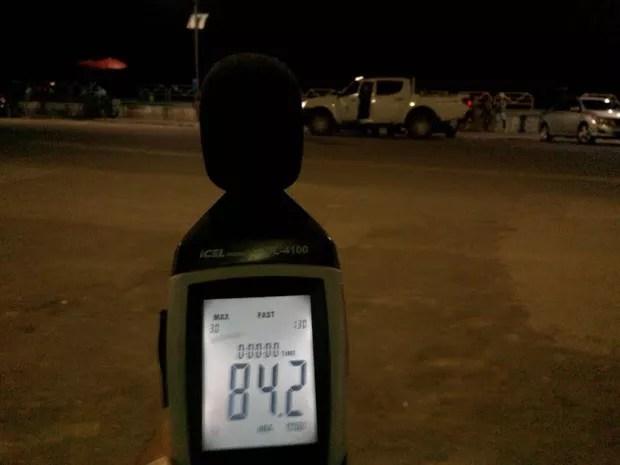 Medidor registrava som automotivo muito acima do permitido (Foto: Semma/Divulgação)